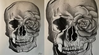 How to Draw a Rose & Skull
