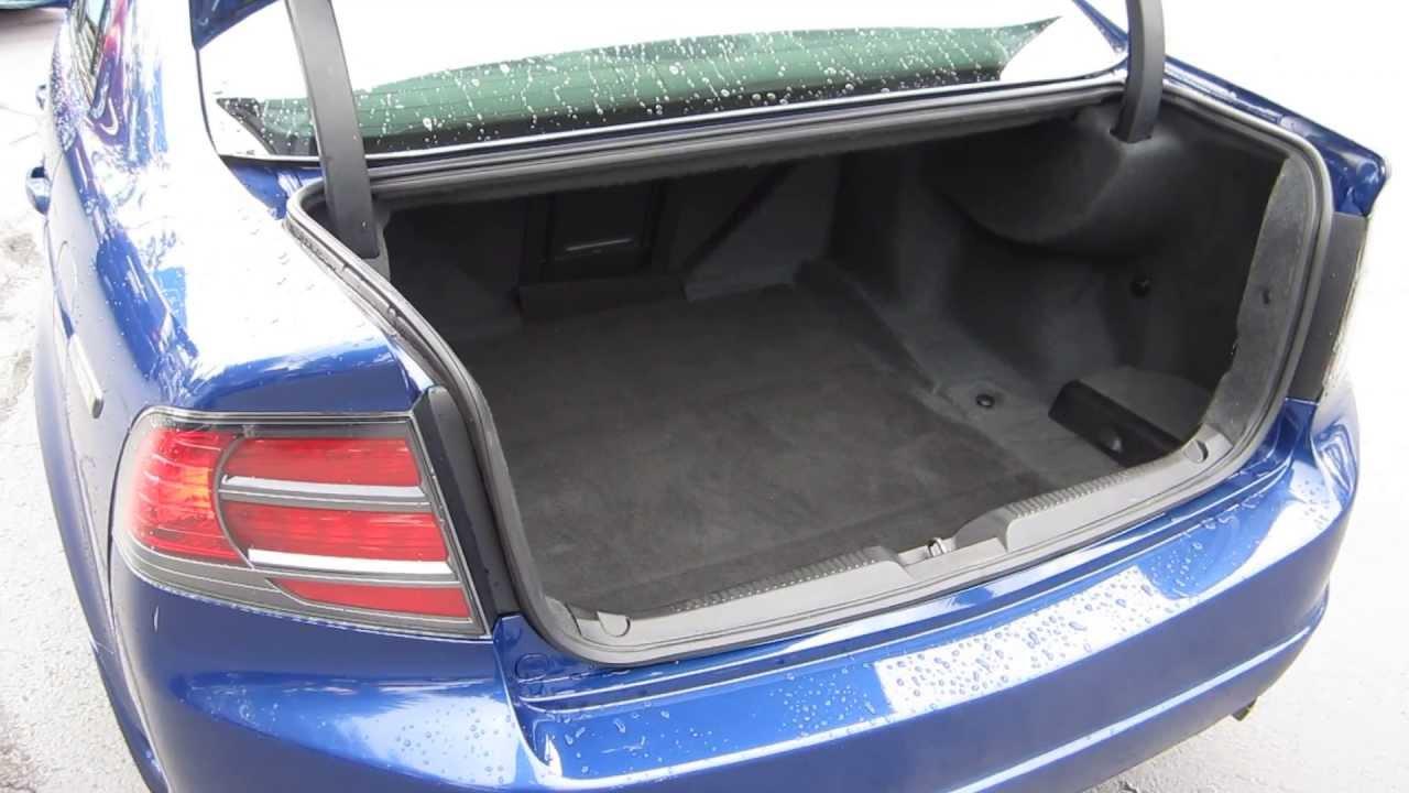2007 acura tl blue stock 132012c trunk [ 1280 x 720 Pixel ]