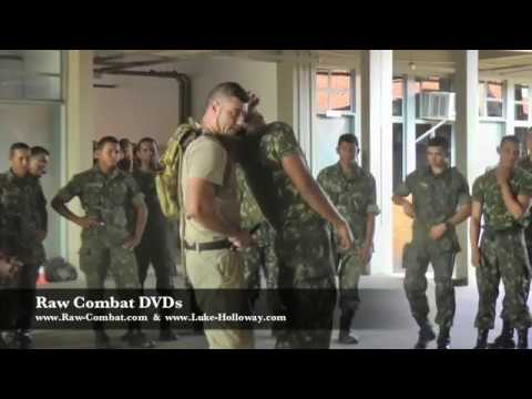 BRUTAL MILITARY KNIFE FIGHTING in BRAZIL