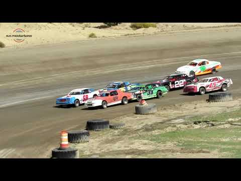 Desert Thunder Raceway IMCA Stock Car Heat Races 9/29/18-Day Race