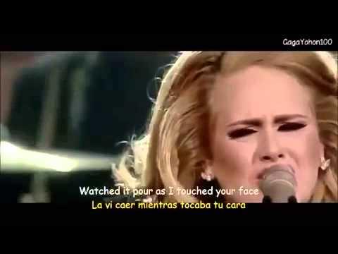Adele  I set fire to the rain con subtítulos en Inglés y Español