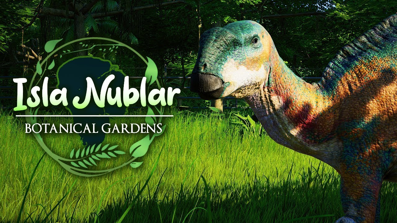 THE SECRET DINOSAUR GARDEN | Isla Nublar Botanical Gardens (Jurassic World: Evolution)