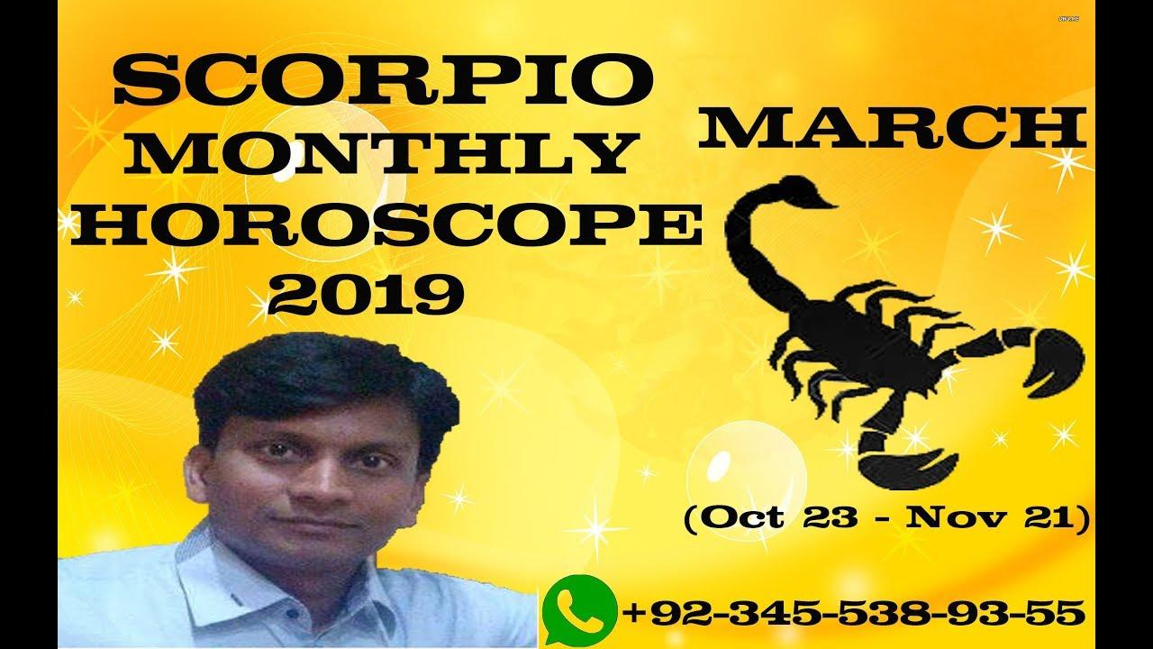 Scorpio March Monthly Horoscope 2019 Scorpio March 2019 Forecast In Urdu Dr Mazhar Waris