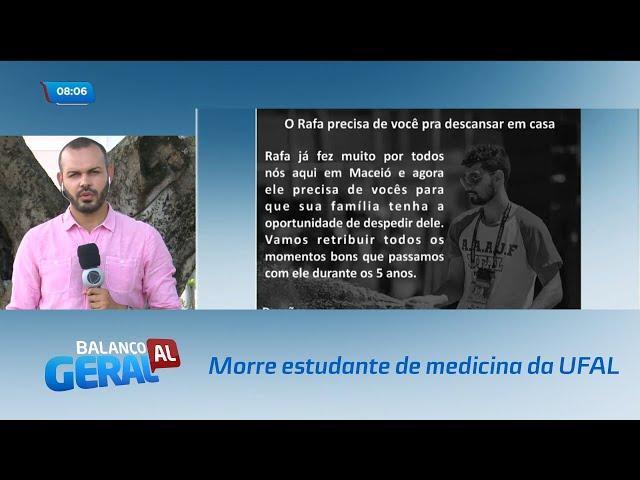 Estudante de medicina da UFAL morre após passar mal em partida de futsal