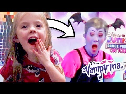 Spooky Disney Dance Party (with VAMPIRINA IN REAL LIFE)!