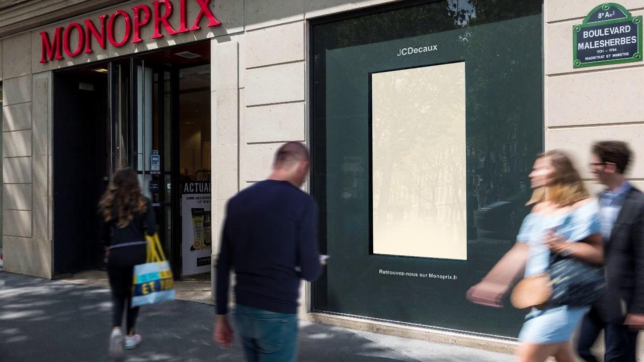 Premiere Campagne Interactive Et Sociale En Vitrine Des Monoprix Jcdecaux France
