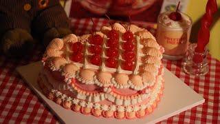 핑크 C🍒H🍒E🍒R🍒R🍒Y 케이크 / Pink Cherry Cake