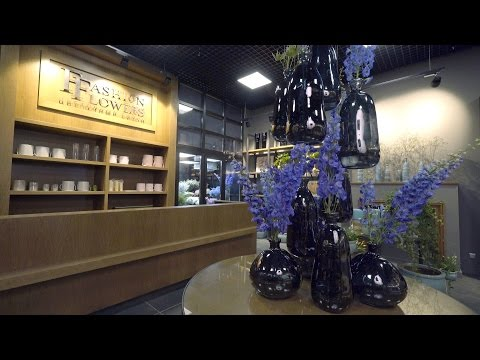 Магазин цветов: дизайн интерьера и оформление магазина. Дизайн помещений магазина Fashion Flowers