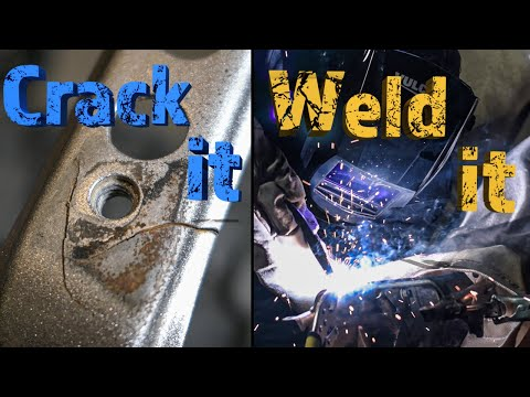 Learning To Weld So I Can Fix The Cracked SubFrame Cross Member On My TW200