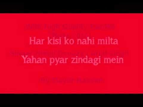 Har Kisi Ko  Boss Karaoke With High Quaity & Video Lyrics by Mayur Hassan