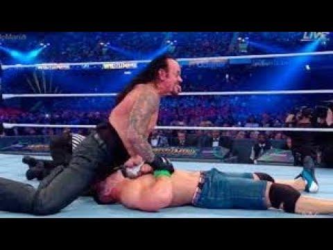 John Cena vs The Undertaker  WWE Wrestlemania 34 HD thumbnail