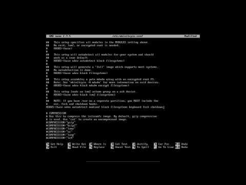 Arch Linux : 20 initramfs and mkinitcpio