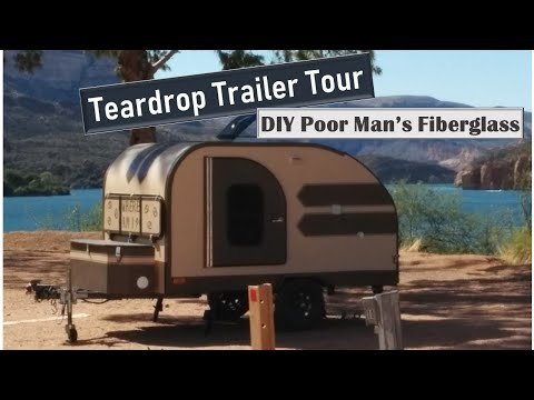 Home Built Teardrop Camper (Poor Man's Fiberglass)