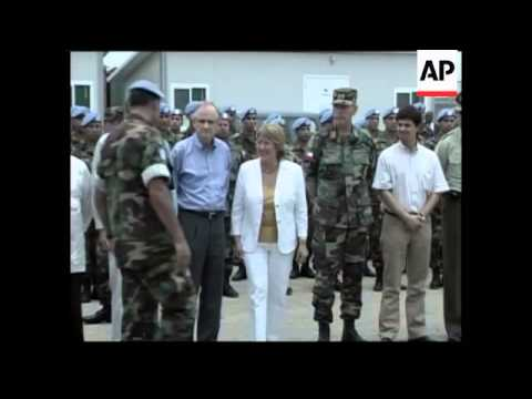 Michelle Bachelet continues visit to Haiti; visits peacekeepers