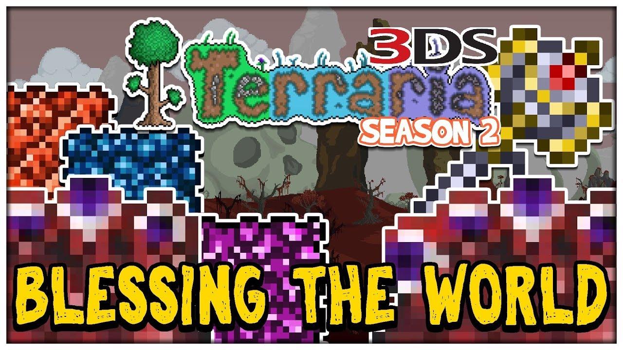 BLESSING THE WORLD | Terraria 3DS Season 2 #28 (Nintendo 3DS Playthrough)