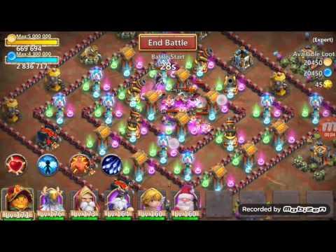 Castle Clash Expert Dungeon 7-8 100% Smurf (FTP)