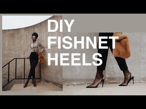 $25 Alexander Wang Inspired Fishnet Heels | DIY