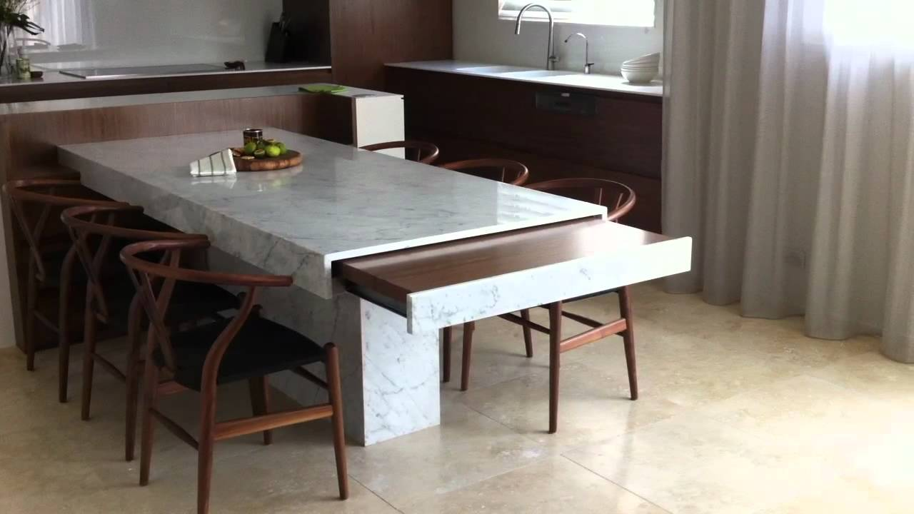 Remote controlled extension table - Minosa kitchen design