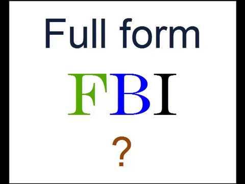 Full Form of FBI ? - YouTube