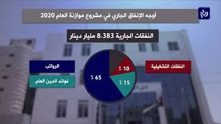 الحكومة تعلن تفاصيل زيادة النفقات العامة في موازنة 2020 ( 28/11/2019 )
