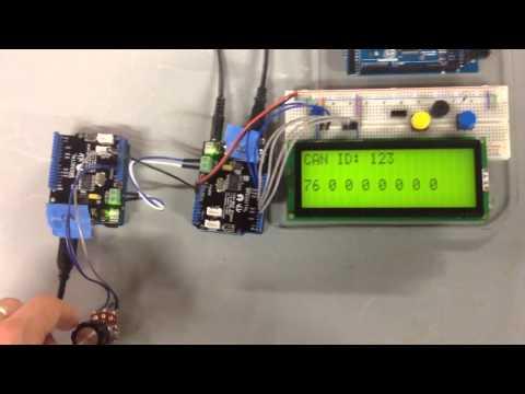 Arduino Sending Data Over A CAN Bus