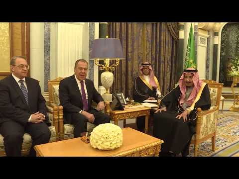 С.Лавров и Сальман Бен Абдель Азиз Аль Сауд, Эр-Рияд, 5 марта 2019 года