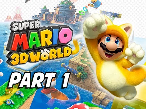 Super Mario 3d World Walkthrough Part 1 Cat Mario 100