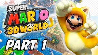 Super Mario 3D World Walkthrough Part 1 - Cat Mario! (100% Nintendo Wii U Gameplay )