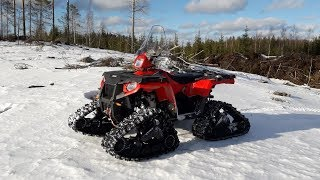 Polaris 4x4 on Snow Tracks!