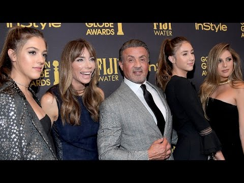 Thumbnail: EXCLUSIVE: Sylvester Stallone Reacts to Daughters Being Named Miss Golden Globes 2017: 'It's Surr…