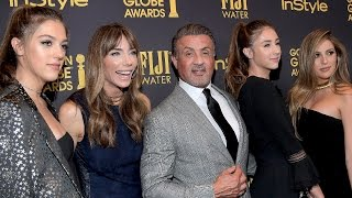 EXCLUSIVE: Sylvester Stallone Reacts to Daughters Being Named Miss Golden Globes 2017: