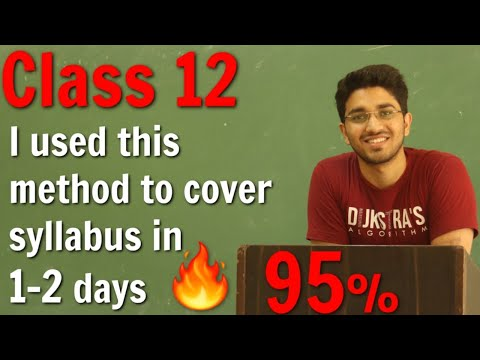 How to cover syllabus in least time   How to study for Class 12 Board Exam   Aman Dhattarwal