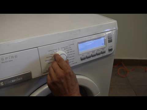 Сброс ошибки и сервисный тест Electrolux