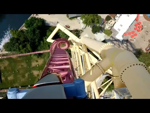 Top Thrill Dragster Front Seat POV 2014 FULL HD Cedar Point
