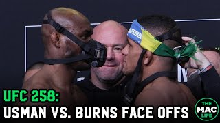 Kamaru Usman vs. Gilbert Burns Intense Face Off | UFC 258 Final Face Offs