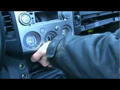 How To To Remove The Silver Coulered Console Mazda Bt 50