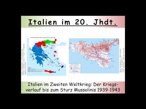Italien im Zweiten Weltkrieg: Der Kriegsverlauf bis zum Sturz Mussolinis 1939-1943 1/2