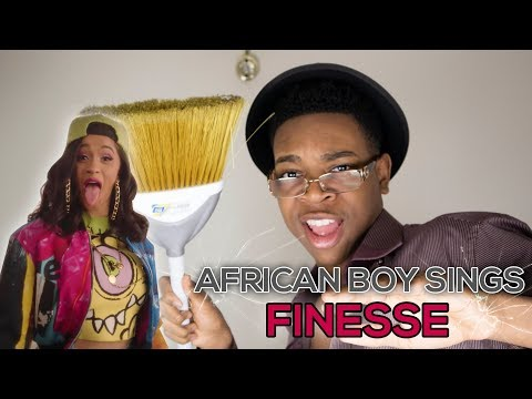 AFRICAN BOY SINGS Bruno Mars  Finesse Remix Feat Cardi B