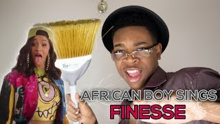 "AFRICAN BOY SINGS ""Bruno Mars - Finesse (Remix) [Feat. Cardi B]"""