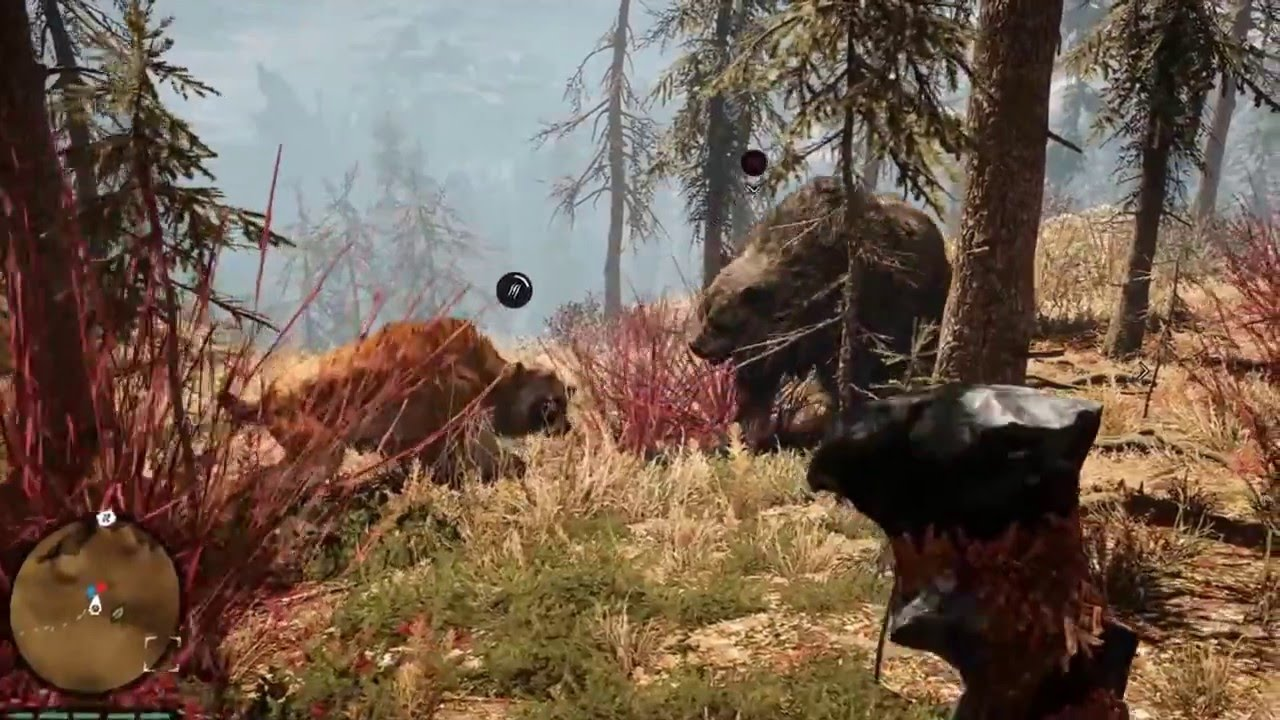 Far Cry Primal Sabre Tooth Tiger Vs Cave Bear Youtube