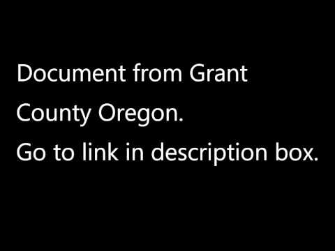 Burns Oregon--Document from Grant County