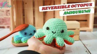 #164 DIY Animal Amigขrumi | How to crochet a REVERSIBLE OCTOPUS amigurumi | Free Pattern|AmiguWorld