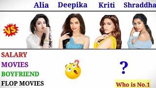 Alia Bhatt Vs Deepika Padukone Vs Kriti Sanon Vs Shraddha Kapoor Comparison🔥  