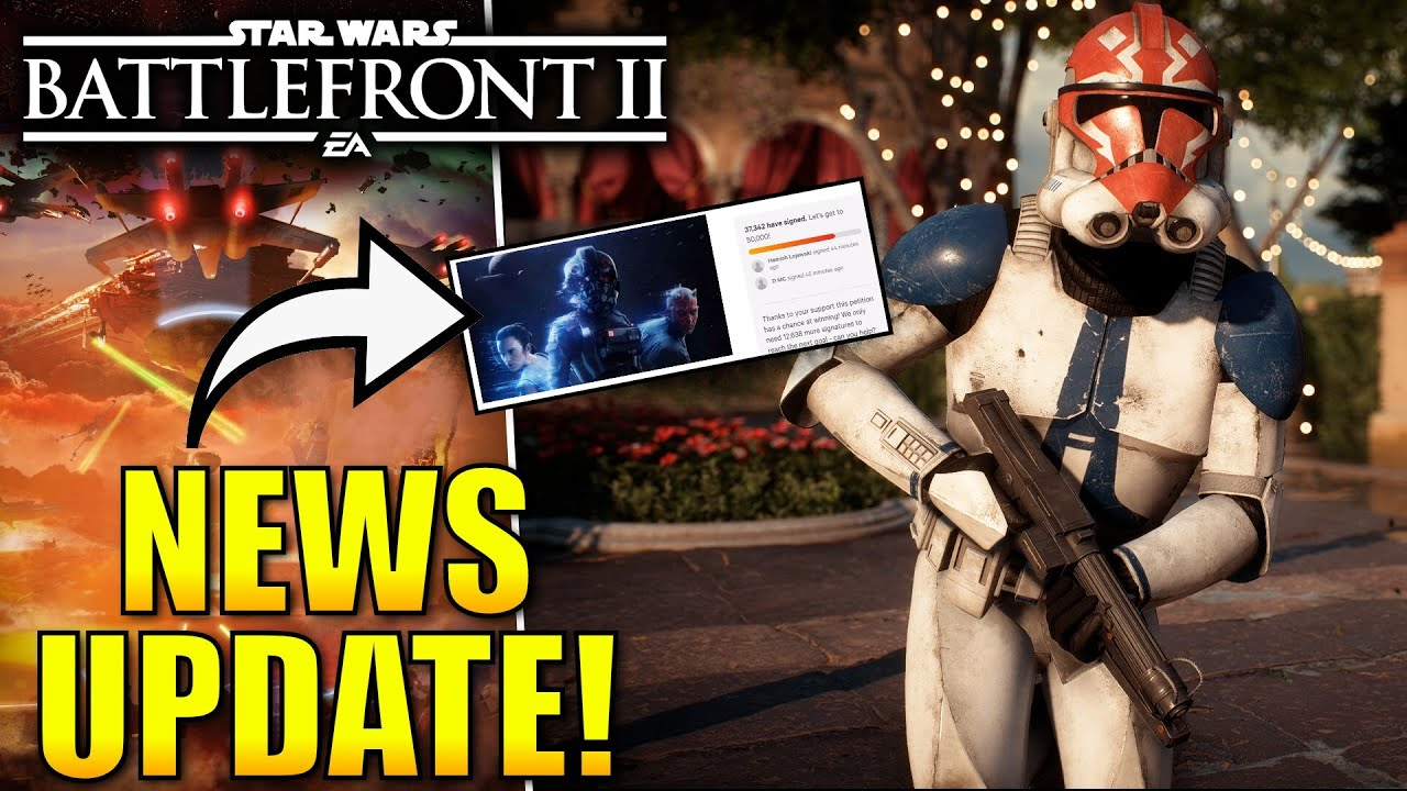 Star Wars Battlefront 2 News! - Save Battlefront 2 Petition Gaining Traction! Upcoming Patch! thumbnail