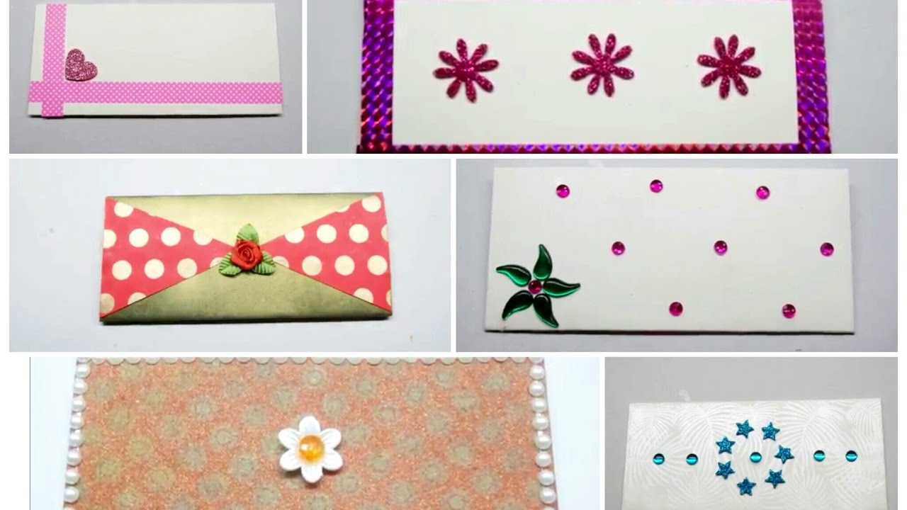 6 Amezing Decorative Envelopes at Home/ How to Decorate ...