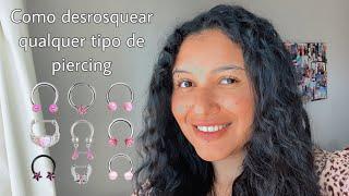 como desrosquear qualquer tipo de piercing / como trocar piercing sozinha | Paty Garello