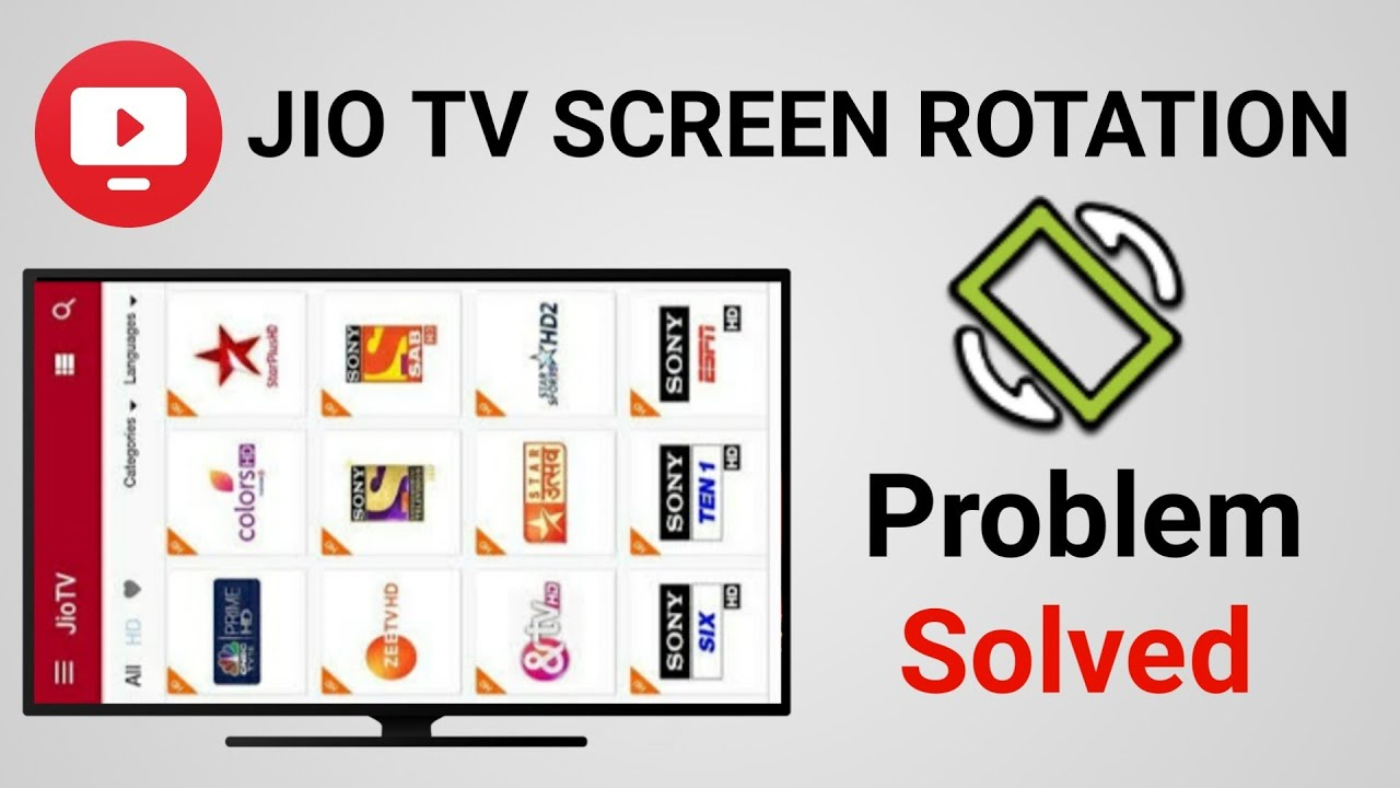How to Set Orientation of Android TV | JioTV Screen Rotation Problem