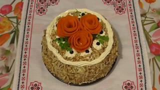 Печёночный торт / Холодная закуска из печени /  Торт з печінки / Праздничные блюда / Рецепт