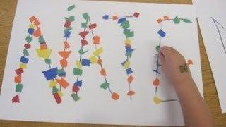 Preschool Name Art Activity   Cullen's Abc's