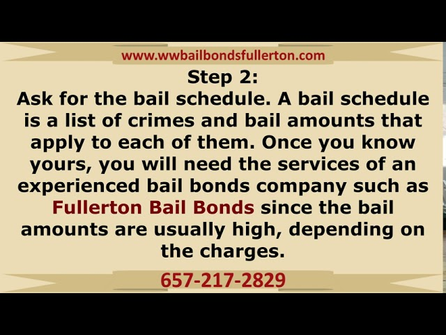 How bail bonds work in Fullerton, CA!